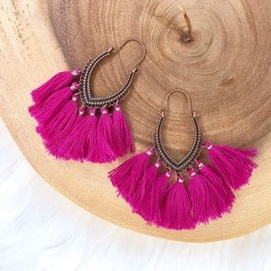 Fringe Boho Tassel Drop Dangle Earrings